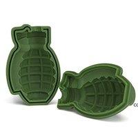 3D Grenade Molde de Gelo Grenade Molde Do Bolo Silicone Molde de Cozimento De Silicone Gelo Bandeja Molde Modelo Cofre Molde DIY Ferramenta Dha7122