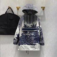 2021 디자이너 까마귀, 가을 겨울 캐주얼 스웨터에 대한 패션 여성의 후드 긴 소매 편지 패턴으로 대비 컬러 의류 인쇄 고품질