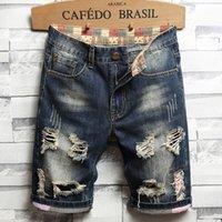 2021 Mens Designer Jeans Summer Shorts Casual Pantalones Pantalones Moda Jean Diseñadores Para Hombres Ropa Denim Raíz Rodado