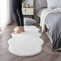 Carpets Faux Fur Carpet For Bedroom White Fluffy Thick Bedside Mats Nordic Shaggy Washable Rugs And Home Living Room