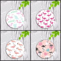 Mouse Pads & Wrist Rests Mairuige Cool Flamingo Computer Gaming Keyboard Lockedge Mousemats Size For 20*20cm 22*22cm Round Mousepad Rubber