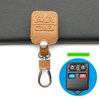 Para Ford Design Clássico 100% Capa de Couro Genuíno Capa Remoto Controle Remoto 4 Botões Carro Inteligente Capa Chave Acessórios Automóveis