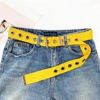 Belts 2021 Fashion Luxury For Women Pin Buckle Porous Designer High Quality Canvas Strip Waist