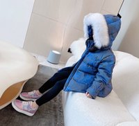 high quality Winter kids warm down coat with fur collar toddlers Jacket Parka For girls thicken padded clothes Children's Clothing Snow Wear baby girl Outerwear