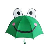Bonito dos desenhos animados Crianças Guarda-chuva Animação Creative Long-Handled 3D Orelha Modelagem Crianças Guarda-chuva Para Meninos Meninas Frete Grátis
