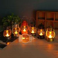 هالوين الديكور الرجعية مصباح النفط الصغيرة هدية عيد الميلاد المهر فانوس الإبداعية بار شبح مهرجان جو تخطيط حزب ضوء الليل