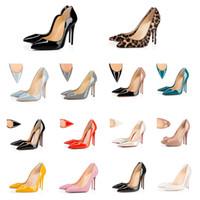 Con scatola moda rossa bottom tacchi tacchi donna scarpe scarpe rotonde puntine puntine pompe spunta tacchi alti Designer Designer scarpe scarpe da sneakers 35-42