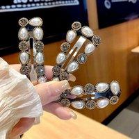 70٪ من كوريا الجنوبية dongdamen الصناعة الثقيلة اللؤلؤ دبوس الشعر صافي أحمر المعادن الماس مزاجه تنوع الانفجارات الجانب bb كليب
