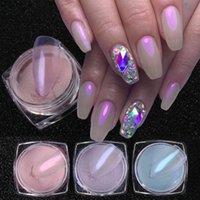1box Nagelglitter Aurora Pulver Superfine Magic Spiegel Pigment Acryl Polish Dip Mermaid Staub Nagel Accessoires Liefert NF1786
