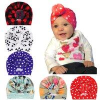 Newborn Baby Caps Floral Dot Print Kids Girls Donuts Hats для малышей Детей Turban Beanie Ear Mufs Аксессуары для волос Голова Wraps KBH16