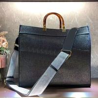 Lady Handbags Cross Body Bag Tote Monedero Moda Nuevo patrón de rayas Paja Llena Straight Strap Strap Bag Bolsa de letra