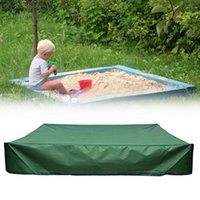 Pool & Accessories Green Bunker Cover With Traction Rope 95% UV Resistant Children's Toy Sand Pond Garden Small Waterproof Sunshade Windproo