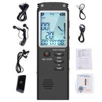 تسجيل صوتي رقمي 8 جيجابايت / 16 جيجابايت / 32 جيجابايت USB الاحترافية 96 ساعات Dictaphone الصوت مع WAV، مشغل MP3 T60 1536 KBPS