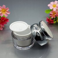 50pcs lot 30g 50g Cosmetic Container Cube Acrylic Jar Clear Cream Pot Makeup Sample Jars empty golden beauty cream container 4848 Q2