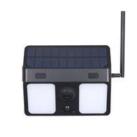 1080P Luz de pared Vigilancia Cámaras de vigilancia Solar Powered Bat-tery Seguridad Cámara IP67 Impermeable para jardín Patio Patio Patio Patio Patio