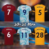 2020 2021 lobos Jersey 20 21 homens Willian J. J.Moutinho Neves Podência Camisas de futebol N.Semedo Raul Adama Maillots Uniforme