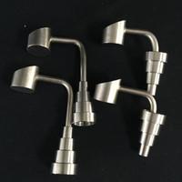 GR2 유니버셜 티타늄 손톱 돔 - 덜 양동이 버블 러 Banger Nails 18.8mm 14.4mm 10mm 남성 여성 조인트 6 1 티타늄 네일