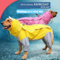 Dog Apparel Pet Large Dogs Raincoat Out Door Walking Waterproof Detachable Rain Cover Water Protection Big Clothes DOGGYZSTYLE