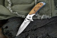 High quality!!! Browning 338 Small Pocket Folding Knives 440C 57HRC Tactical Camping Hunting Survival EDC Tools Wood Handle Utility Tools