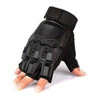 Black Fighting Machinery Hartschale Schutzhandschuhe Outdoor Sports Half Finger Finger Mitte Männer Antislip Taktischer Handschuh