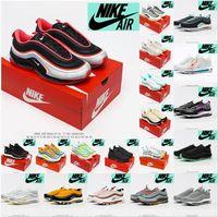 Nike Air Max 97 zapatillas para mujer para mujer 97s Mschf Lil Nas X Satan Luke Inri Jesús All Black White Ice Sean WotsPoon UndeFeated Peddd Gym Red Pink Sneakers