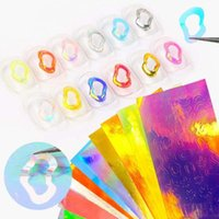 Stickers & Decals 16 Pcs Irregular Circle Nail Art Sticker Holographic Laser Self Adhesive Foil Manicure Decoration