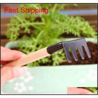 3 teile / satz Mini Gartenarbeit Werkzeuge Balkon Hausgewachsene Topfpflanzung Blume Spaten Schaufel Rake Grabing Anzüge Drei-P Qylwy Toys2010