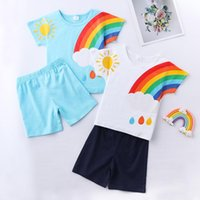 Clothing Sets 2021 Summer Children Suits For Boys And Girls Short Sleeve Baby Two Clothes T-shirt + Shorts Toddler