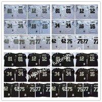 NCAA Футбольный колледж 34 Бо Джексон 16 Джим Планкеттт 32 Маркус Аллен Трикотажные изделия 25 Фред Билетникофф 12 Кен Stabler Лестер Хейс Человек Винтаж черный белый