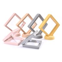Colorful 3D Floating Picture Frame Shadow Display Film Suspensiony Storage Transparent Box Jewelry Bracelet Packaging Box Includes Base
