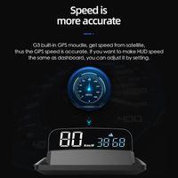Car GPS & Accessories Head Up Display HUD Speedometer Overspeed Warning 135*68*30mm 5 To 12V