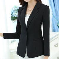 Women's Suits & Blazers Fashion Single Button Blazer Women Suit Jacket Green White Black Pink Blue Blaser Female Femme Plus Size