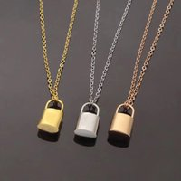 Pendants gold lock Necklace fashion silver plated letter simple heart Titanium Valentine's Day lovers chain jewelry wedding womens necklaces