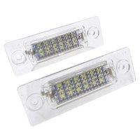 1 paire 18SMD Numéro de LED de LED de LED 18SMD Lampe d'immeuble pour VW Touran / Passat B6 5D / Jetta Candy Skoda Superbe 1 3U B5 Voiture