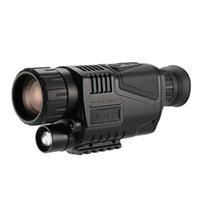Câmeras de caça 5x40 multi-funcional visão noturna digital telescópio monocular com câmera gravador de vídeo Função de câmera