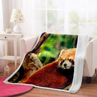 Blankets Irisbell Red Panda Printed Throw Blanket For Sofa Couch Bed Travel Plush Home Decor Sherpa Fleece Camping Warm