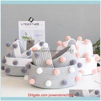 Housekeeping Organization Home & Gardenstyle Cotton Rope Storage Basket Sundries Underwear Toy Box Cosmetic Organizer Stationery Container L