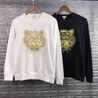 2020 new fashion brand Street tiger head embroidered Pullover Sweater