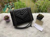 플랩 봉투 크로스 바디 메신저 숄더백 퀼트 핸드백 지갑 여성 패션 브랜드 LuxURS 디자이너 핸드백 체인 가방 여자