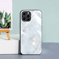 Luxury Marble Design Tempering Glass Phone Cases For iPhone 13 Pro Max 12pro 11pro Xr Xs X 8 7 6s Samsung Galaxy S21 Plus S20 Note20 Ultra S9 Dirtproof Scratchproof Cover