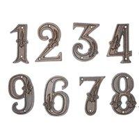 لوحات باب الأجهزة الحديثة رقم المنزل برونزية باب العنوان الرئيسية أرقام البيت الرقمية تسجيل لوحات الطابق رقم DHB5267
