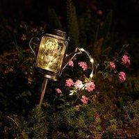 Lawn Lamps 2pcs Solar Fairy Light String LED Mason Jar Kettle Garden Courtyard Park Square Landscape Decorative Lamp