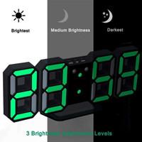 Desk & Table Clocks Modern Wall Clock Timer 3D LED Digital Temperature S9T5