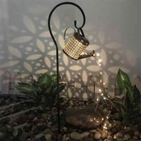 Lámpara de regadera LED solar Decoración de jardín Adornos al aire libre para patio patio Fairy Light String luces decorativas 210903