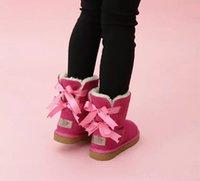 2022 أطفال bailey 2 الانحناء الأحذية جلد طبيعي الصغار أحذية الثلوج الصلبة botas دي نيف الشتاء الفتيات الأحذية طفل رجال أحذية الثلوج