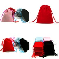 5*7cm Jewelry Bag Mouth Velvet Pocket Blessing Sack Buddha Pearl Brocade Candy Small Cloth Bags Black Red Pink 0 32ys Y2
