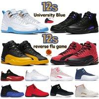 Университет Blue 12 12s Мужчины Баскетбольные Обувь Черный Темный Конкорд Обратный грипп Игра Индиго Низкий SE Металлические Золотые Пасхальные Женские Кроссовки Мужские Тренеры