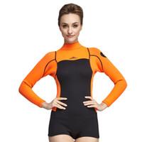 2mm Neue Design Neopren Schnorcheln Neoprenanzug für Frauen Langarm Tauchanzüge Surfen Anzüge 2 Farben