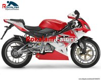 For Aprilia RS125 06 07 08 09 10 11 After Sale Fairings RS 125 2006-2011 Red White Cowling Parts (Injection molding)