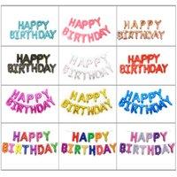 Party Decorative Helium Balloon Happy Alphabet Balloons Set Children Birthday Wedding Decorations Supp